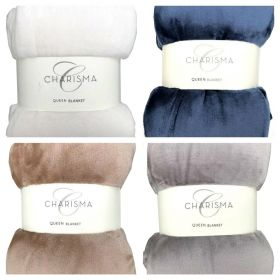 Charisma Ultrasoft Queen Blanket-Brown