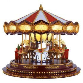 Mr. Christmas Deluxe Carousel with 20 Songs & Synchronized Lights
