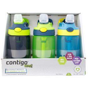 Contigo Kids Autospout Water Bottles 3 Pack Boys