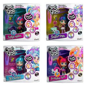 Curli Girls Deluxe Curli Doll Set with Pet - Assorted