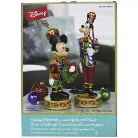 Disney Christmas Mickey & Goofy Nutcrackers with LED Lights & Sounds