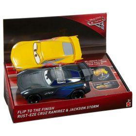 Disney Pixar Cars 3 Flip To The Finish Rust-Eze Cruz Ramirez & Jackson Storm Vehicles