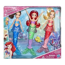Disney Princess Ariel and Sisters Fashion Dolls 3 Pack
