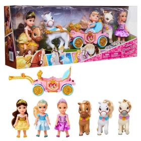 Disney Princess Royal Carriage, Doll & Pony Exclusive Doll Gift Set [Belle, Cinderella & Rapunzel]