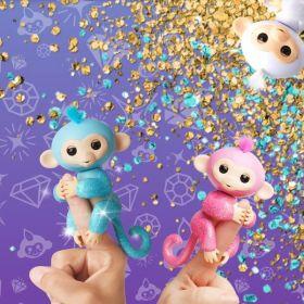 WowWee Glitter Fingerlings Pet Baby Monkeys
