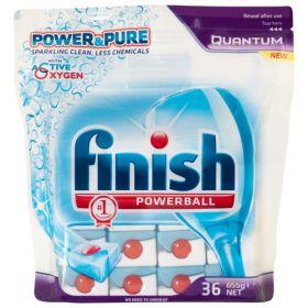 Finish Quantum Dishwasher Tablets Power & Pure Active Oxygen 36pk