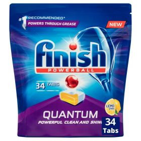 Finish Powerball Quantum Dishwasher Tablets Lemon Sparkle Pack 34