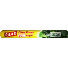 Glad Cling Wrap Easy Cut Refill 50m x 33cm