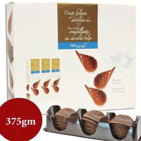 Hamlet Crispy Belgian Chocolate Milk Thins 375g