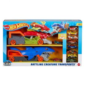 Hot Wheels City Battling Creatures Transporter Vehicles With 10 cars