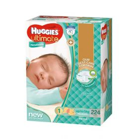 Huggies Ultimate Newborn Nappies 224 Pack