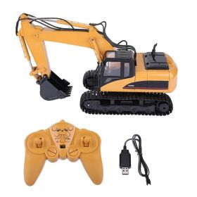 HUINA 1550 1:14 15 Channel 2.4G RC Alloy Truck Excavator