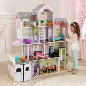 KidKraft Wooden Girls Dollhouse With 26 Pieces Furniture