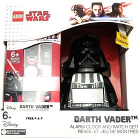 LEGO Star Wars Darth Vader Alarm Clock and Watch Set