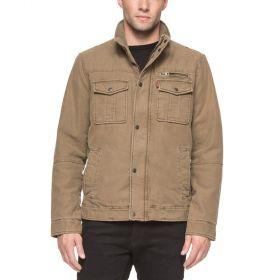 Levi's Mens Full Zip Jacket – Khaki-M