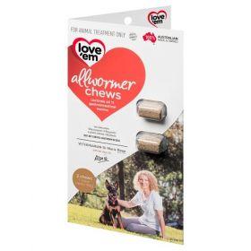 Love em Allwormer Chews For Medium Dogs – 2pk