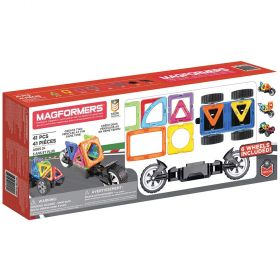Magformers 41 Piece Amazing Wheels Magnetic Building Set