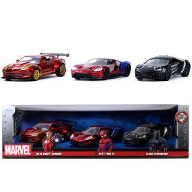 Marvel Avengers 3 Piece Die Cast Cars