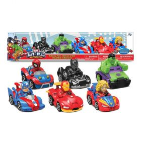 Marvel Superhero Racer Vehicles 6 Packs