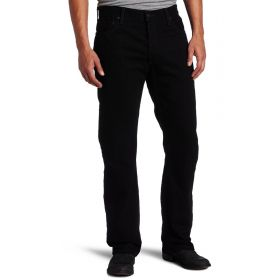Mens Levis 505 Regular Jeans Black-36