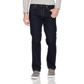 Mens Levis 505 Regular Fit Jeans Blue-34