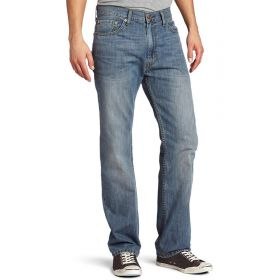 Mens Levis 505 Regular Fit Jeans Stonewash Blue
