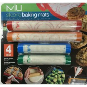 MIU 4 Piece No Mess Silicone Baking Mats