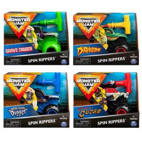 Monster Jam 1:43 Spin Rippers Trucks - Assorted