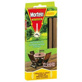 Mortein Outdoor Mosquito Sandalwood Sticks 5 Pack