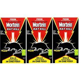 3 Pack Mortein Rat Kill Large Bait Station 300g