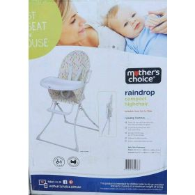 Mother's Choice Raindrop Compact Highchair