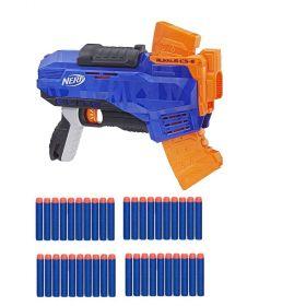 NERF N-strike Elite Rukkus ICS-8 Blaster + 40 Darts