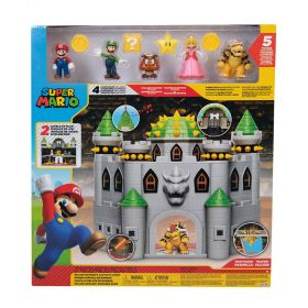 Super Mario Deluxe Bowser Castle Playset With 5 Super Mario Figures