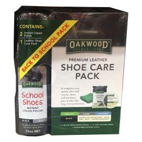 Oakwood Premium Leather Shoe Care Pack