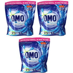 OMO Laundry Detergent Capsules 60 Pack Front & Top Loader