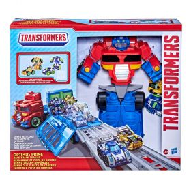 Transformers 15 inch Optimus Prime Race Track Trailer Playset