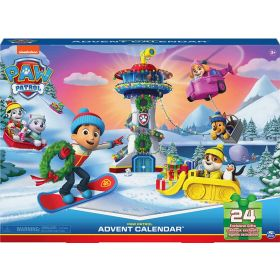 PAW Patrol Advent Calendar 2021 with 24 Exclusive Toy Figures and Accessories