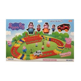 Peppa Pig 64 Pcs Rail Car Game Set