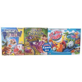 Pop Up Pirate, Snap Dragon & Screw Ball Scramble 3 Games Bundle Pack