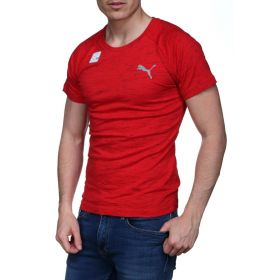 Puma Evostripe Spaceknit T-Shirt - Cherry-M