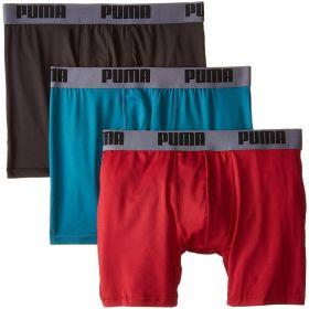 Puma Mens Cotton Stretch Boxer Brief 3 Pack