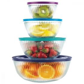 Pyrex 8 Piece Glass Mixing Bowl Set