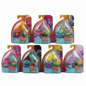 "8 x Trolls Troll Town 5"" Collectible Figure with Critter 8 Pack"