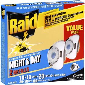 RAID Electronic Fly & Mosquito Repellent Refills - Value Pack 2 Refills