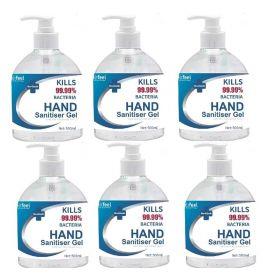 6 Pack ReliFeel 500ml Hand Sanitiser Total 3 Litre