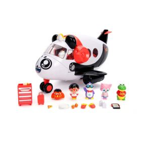 Ryan's World Panda Airplane Set with 6 Figures