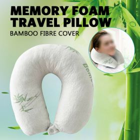 Bamboo Memory Foam Travel Pillow U Shape