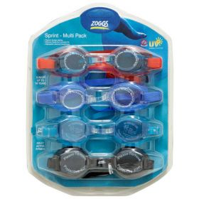 Zoggs 3 Junior Kids & 1 Adult Swimming Goggles