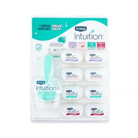 Schick Intuition Value Variety Pack 1 Razor Handle + 9 Cartridges