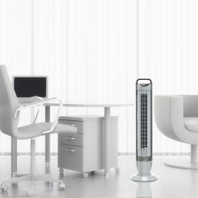 Seville Classics UltraSlimline Energy-Saving Tilt 5 Speed Tower Fan
